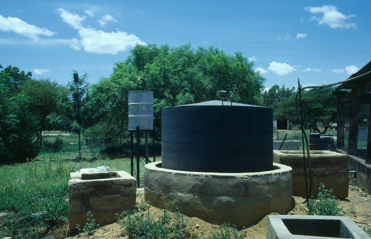 Biogas digester.