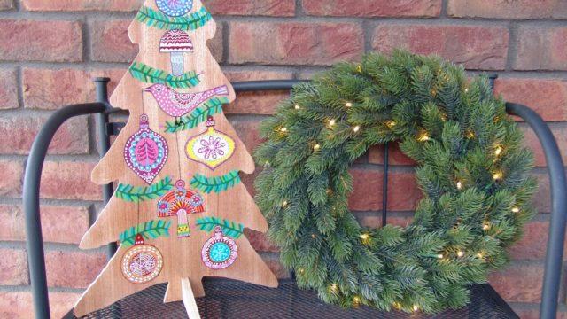 Jak si vyrobit malovaný vánoční strom