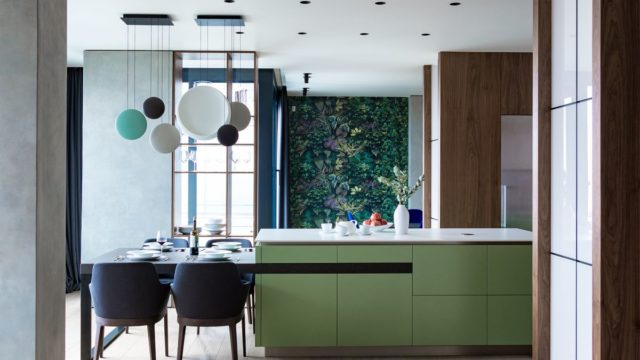 Trendy byt pro mladou rodinu důmyslně kombinuje materiály abarvy