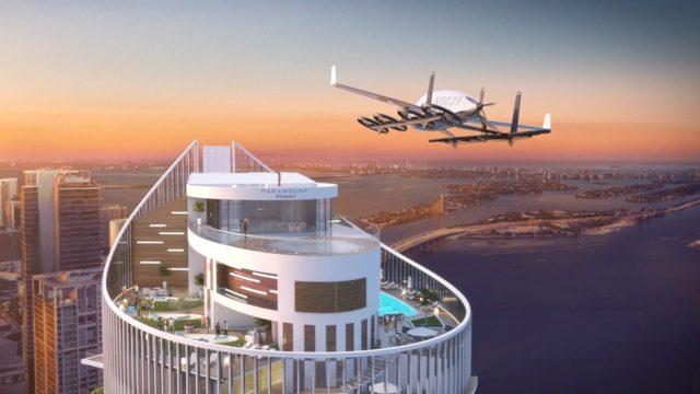 Létající auta přistávající na střeše domu? Dům budoucnosti staví vMiami