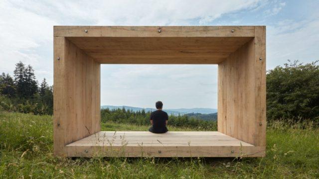 Pozorovatelna Durch rámuje krajinu jako obraz