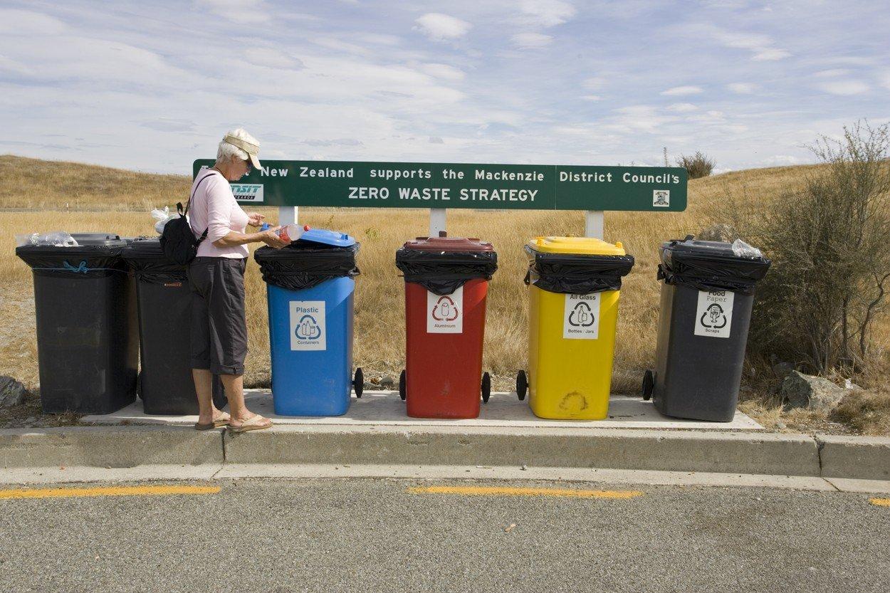 Turiska recyklující na Novém Zélandě
