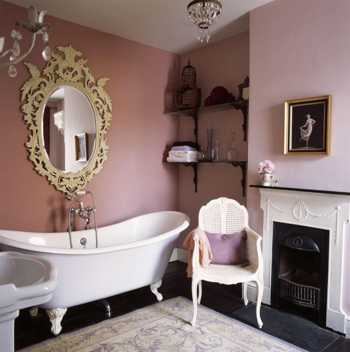 Sladký relax vrůžové koupelně