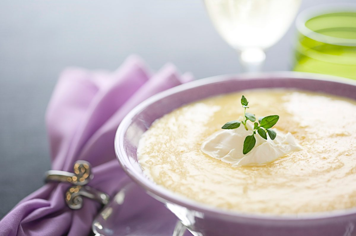 Recepty: Dýňová polévka sbrusinkami