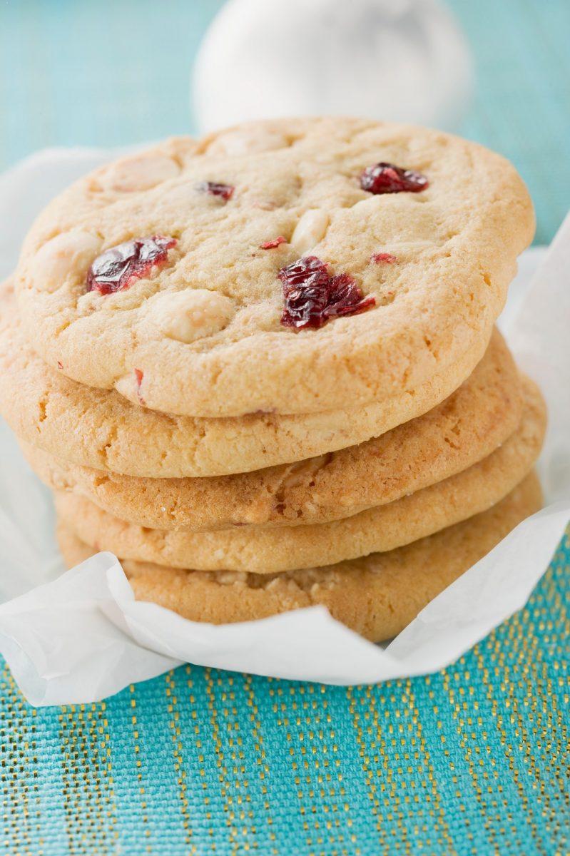 Recepty: Brusinkovo pistáciové vánoční sušenky