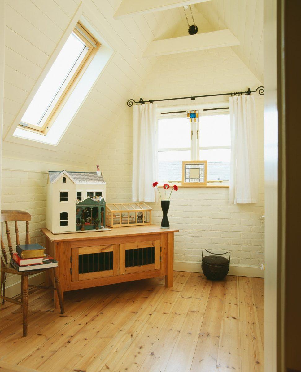 Soutěžní rekonstrukce: Rekonstrukce podkroví ačásti obývacího pokoje